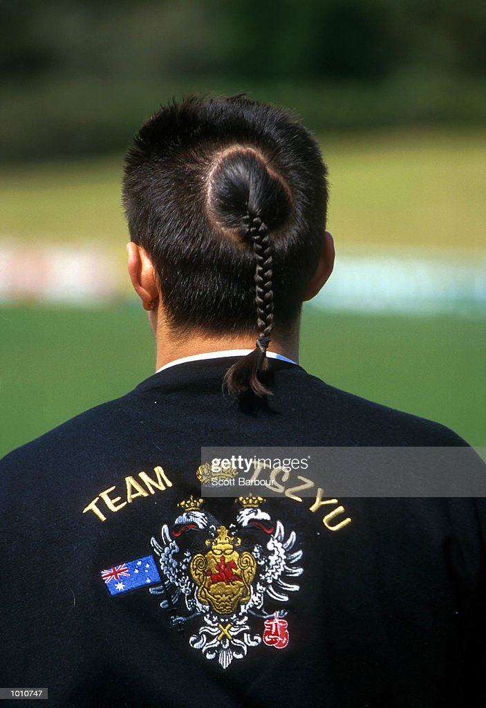 The Hair of WBC World Super Lightweight Champion Kostya Tszyu after being presented with the first season ticket of Parramatta Power soccer team at training earlier today at Parramatta Stadium,Sydney Australia. Mandatory Credit: Scott Barbour/ALLSPORT