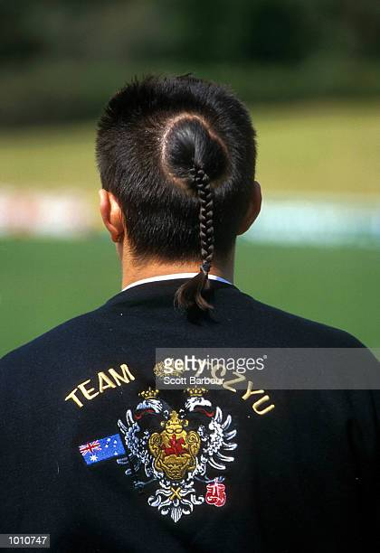 The Hair of WBC World Super Lightweight Champion Kostya Tszyu after being presented with the first season ticket of Parramatta Power soccer team at...