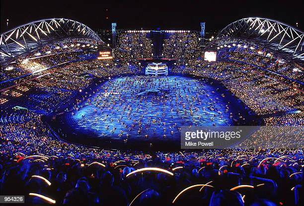 A general view from the Opening Ceremony of the Sydney 2000 Olympic Games at the Olympic Stadium in Homebush Bay Sydney Australia Mandatory Credit...