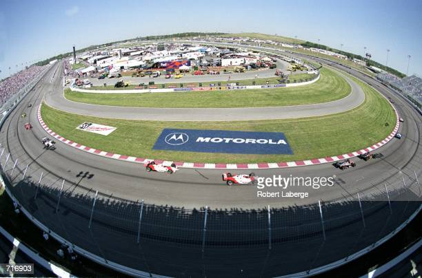 A general view of the racing circuit during the Motorola 300 part of the 2000 CART FedEx Championship Series at the Gateway International Raceway in...
