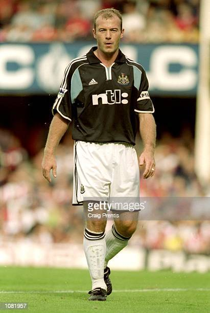 Alan Shearer of Newcastle United in action during the FA Carling Premiership match against Southampton at The Dell in Southampton England Mandatory...