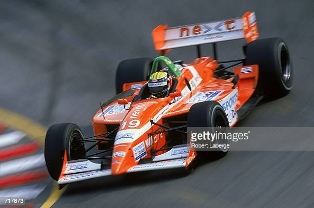 Alex Barron of the US who drives a Ford Lola B2K/00 for Dale Coyne Racing makes a turn during the Molson Indy Vancouver part of the CART Fed Ex...