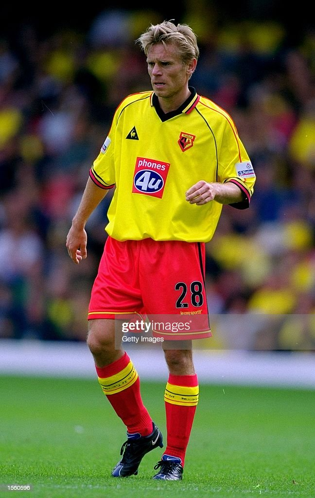 Allan Nielsen of Watford in action during the Nationwide League Division One match against Crewe Alexandra at Vicarage Road in London. Watford won the match 3-0. Picture by Mike Finn-Kelcey. \ Mandatory Credit: Allsport UK /Allsport