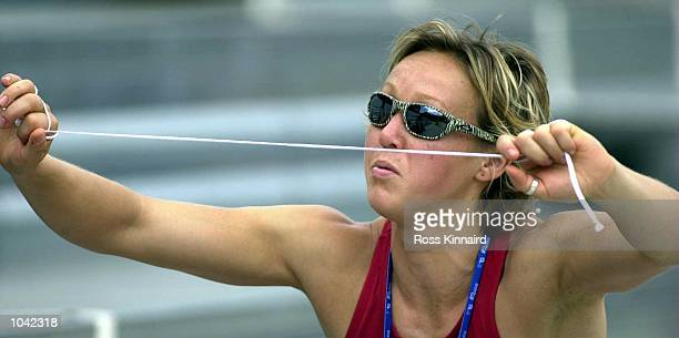 Allison Curbishley of Great Britain during a team training session at Griffith University on the Gold Coast Australia DIGITAL IMAGE Mandatory Credit...