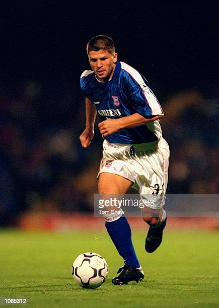 Amir Karic of Ipswich Town in action during the Worthington Cup second round second leg against Millwall at Portman Road in Ipswich England Ipswich...