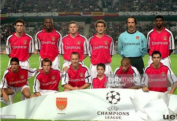 Arsenal team lineup before the UEFA Champions League match against Sparta Prague at the Sparta Stadium in Prague Czech Republic Arsenal won the match...