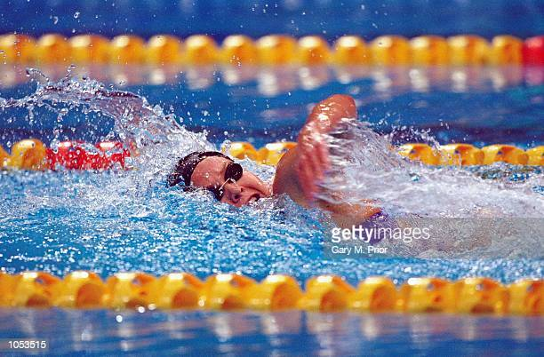 Brooke Bennett of the USA in action in the Women's 800m Freestyle Final at the Sydney International Aquatic Centre on Day Seven of the Sydney 2000...