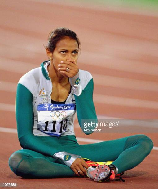 Cathy Freeman of Australia wins gold in the Womens 400m Final at the Olympic Stadium on Day Ten of the Sydney 2000 Olympic Games in Sydney,...