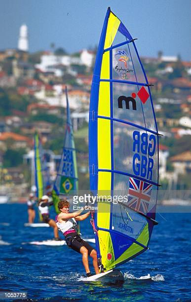 Christine Johnston of Great Britain in action during the Womens Mistral Fleet races at Rushcutters Bay on Day Seven of the Sydney 2000 Olympic Games...