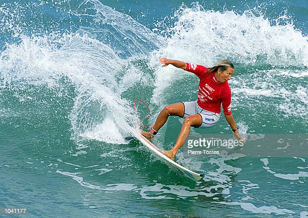 Current Association of Surfing Professionals world champion Layne Beachley powered past wildcard Emmanuelle Joly to advance to round three of the...