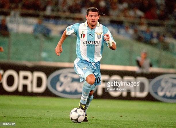 Dejan Stankovic of Lazio in action during the UEFA Champions League match against Sparta Prague at the Stadio Olimpico in Rome Italy Lazio won the...