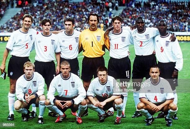 England Team Group Shot during the Friendly with France at the Stad De France France 11England Mandatory Credit Clive Brunskill/ALLSPORT
