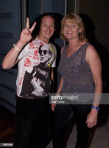 **Exclusive** Screaming Jets lead singer Dave Gleeson with former Olympic Equestrian gold medallist Gillian Rolton attend The Last Lap function at...