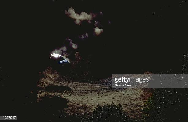 Francois Delecour of France and Peugeot 206 wrc in action during the 2000 FIA World Rally Championship in Cyprus Francois Delecour finished third in...