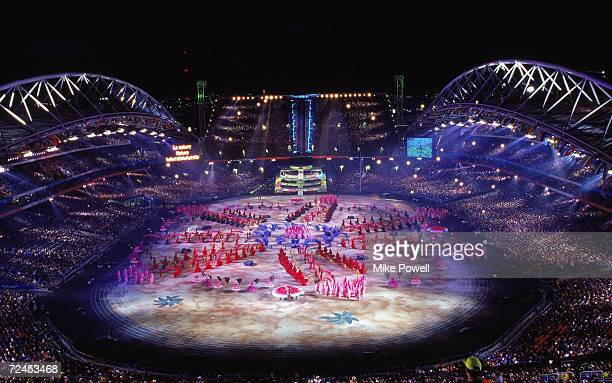 General view from the Opening Ceremony of the Sydney 2000 Olympic Games at the Olympic Stadium in Homebush Bay Sydney Australia Mandatory Credit Mike...
