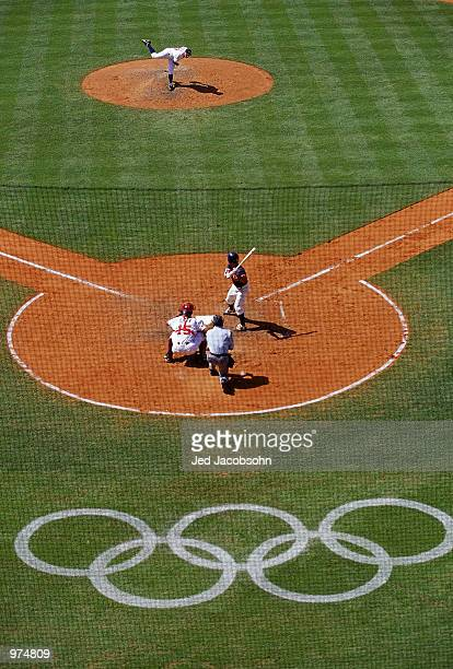 General View Of Japan In Bat Against The USA Mens Baseball Preliminaries At
