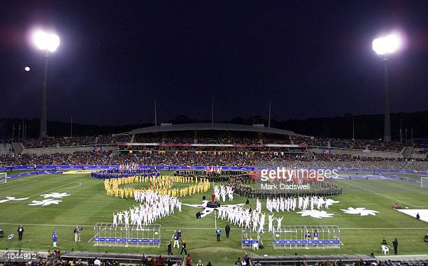 General View of ''OLE'' the Opening Ceremony for Bruce Stadium as a Football venue for the Sydney 2000 Olympic Games at Bruce Stadium, Canberra, ACT,...