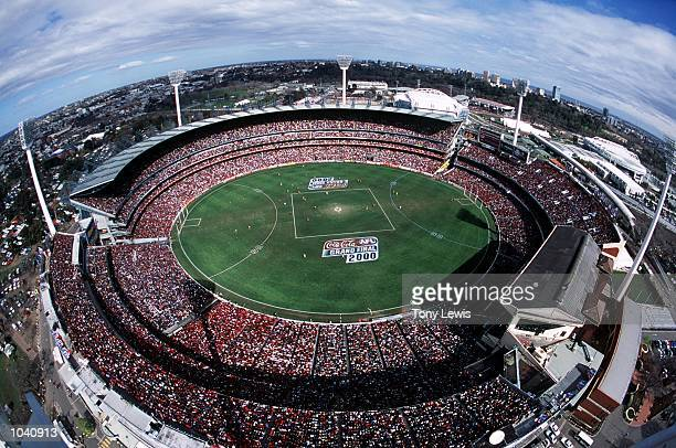 General View of the 2000 AFL Grand Final match between Essendon Bombers v Melbourne Demons at the MCG Melbourne Australia DIGITAL IMAGE Mandatory...