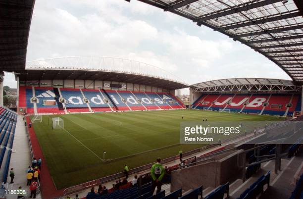 General view of the JJB Stadium home of Wigan Athletic before the Nationwide League Division Two match between Wigan Athletic and Northampton Town at...