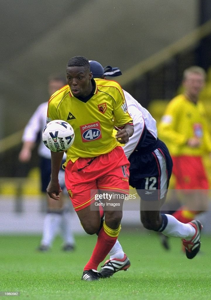 Gifton Noel-Williams of Watford in action during the Nationwide League Division One match against Crewe Alexandra at Vicarage Road in London. Watford won the match 3-0. Picture by Mike Finn-Kelcey. \ Mandatory Credit: Allsport UK /Allsport