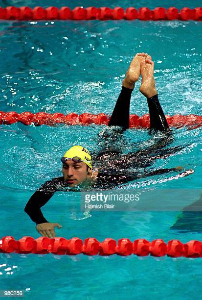 Ian Thorpe of Australia after swimming in the Men's 4x100m Relay Medley held at the Sydney International Aquatic Centre during the Sydney 2000...