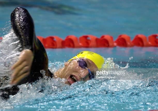 Ian Thorpe of Australia in action on his way to winning the Gold medal in the Mens 400m Freestyle Final in a new world record of 34059 during the...