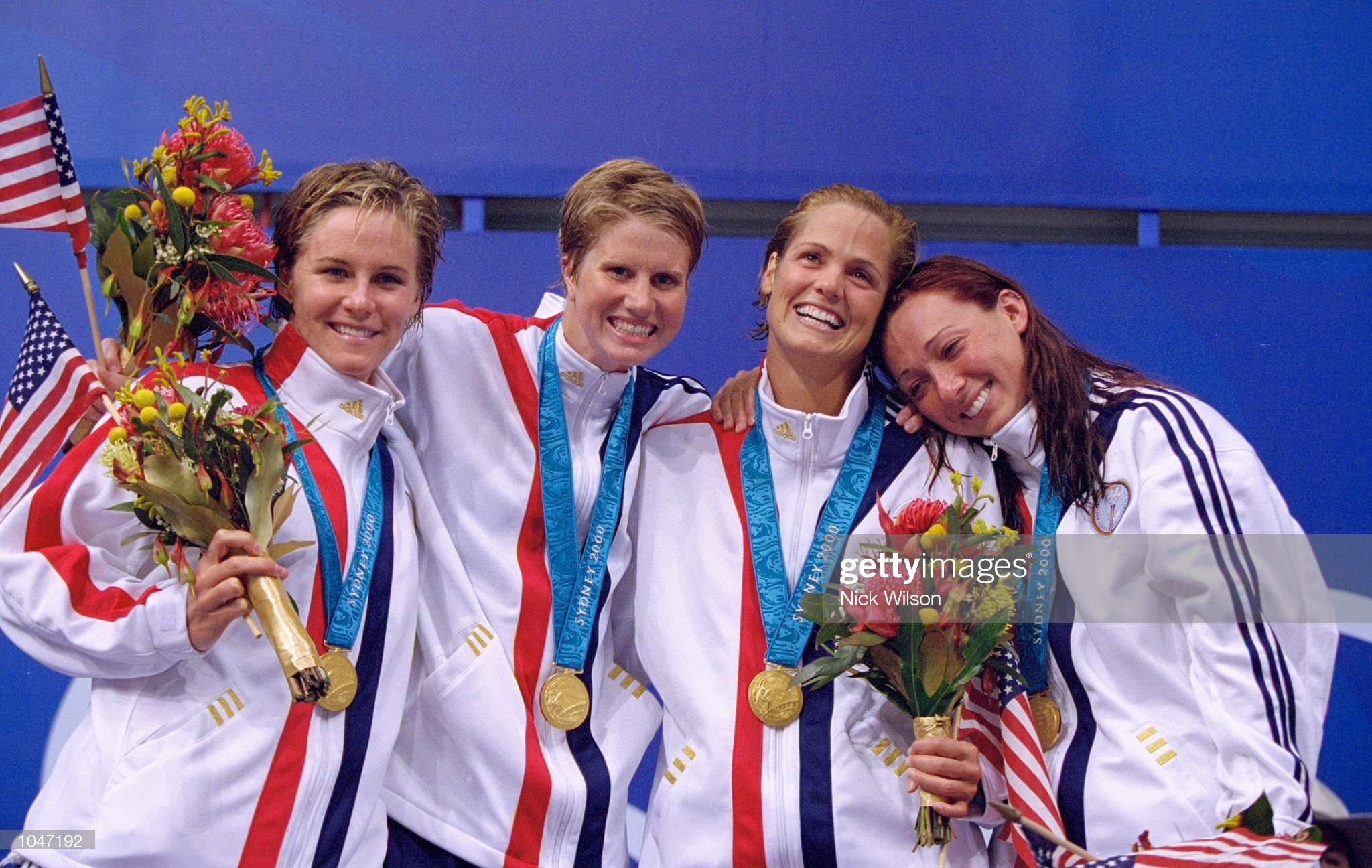 Jenny Thompson, Courtney Shealy, Darra Torres and Amy Van Dyken : News Photo