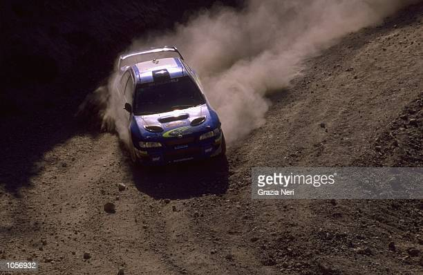 Juha Kankkunen of Finland and Subaru Impreza wrc in action during the 2000 FIA World Rally Championship in Cyprus Photograph taken by Germano Gritti...