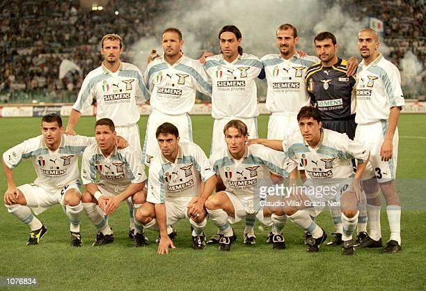 Lazio lineup before the Italian Super Cup match against Inter Milan played at the Stadio Olimpico in Rome Italy Lazio won the match 43 Mandatory...