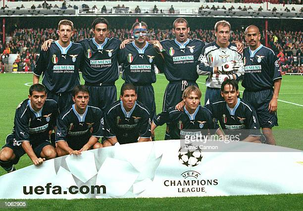 Lazio team photograph taken before the UEFA Champions League match at Highbury in London Arsenal won the match 20 Mandatory Credit Dave Cannon...