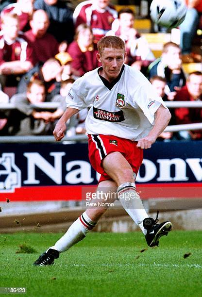 Lee Roche of Wrexham in action during the Nationwide League Division Two match against Northampton Town at the Sixfields Stadium in Northampton...