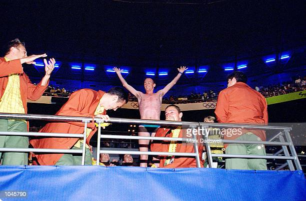 Marathon runner Lee Troop of Australia during the Opening Ceremony of the Sydney 2000 Olympic Games at the Olympic Stadium in Homebush Bay Sydney...