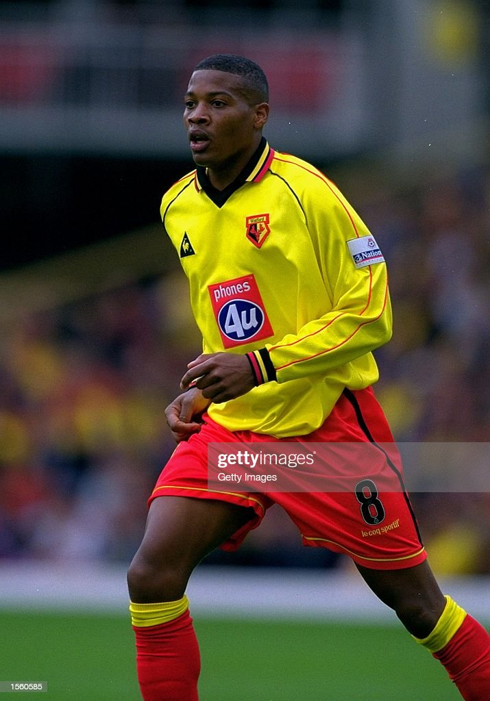 Micah Hyde of Watford in action during the Nationwide League Division One match against Crewe Alexandra at Vicarage Road in London. Watford won the match 3-0. Picture by Mike Finn-Kelcey. \ Mandatory Credit: Allsport UK /Allsport