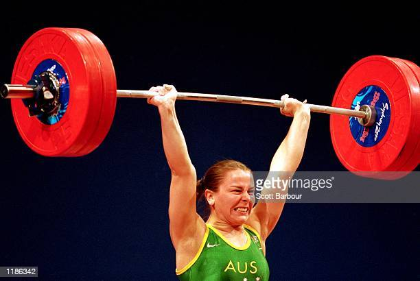 Michelle Kettner of Australia in action during the Women's 69kg Weightlifting held at the Sydney Convention Centre during the Sydney 2000 Olympics...