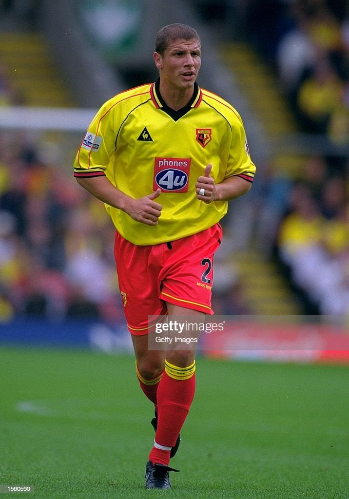 Neil Cox of Watford in action during the Nationwide League Division One match against Crewe Alexandra at Vicarage Road in London. Watford won the match 3-0. Picture by Mike Finn-Kelcey. \ Mandatory Credit: Allsport UK /Allsport