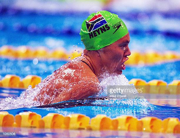 Penny Heyns of South Africa in action in the Women's 200m Breaststroke Heats at the Sydney International Aquatic Centre on Day Five of the Sydney...