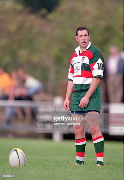 Phil Belgian of Waterloo in action during the National League One match against Otley at Cross Green in Otley England Otley won the match 1615...