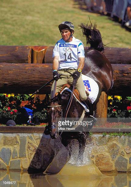 Phillip Dutton of Australia on House Doctor during the Team Three Day Event Cross Country section at the Sydney International Equestrian Centre on...