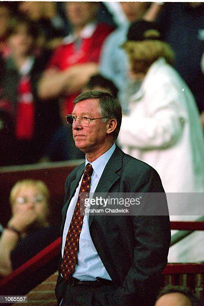 Portrait of Alex Ferguson the Manchester United manager during the UEFA Champions League match against Anderlecht at Old Trafford in Manchester...