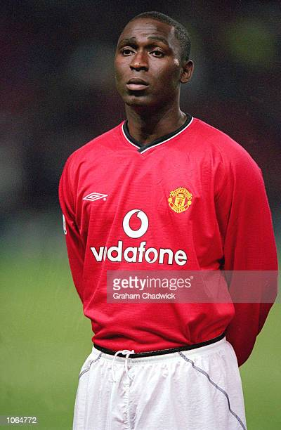 Portrait of Andy Cole of Manchester United before the UEFA Champions League match against Anderlecht at Old Trafford in Manchester England Manchester...