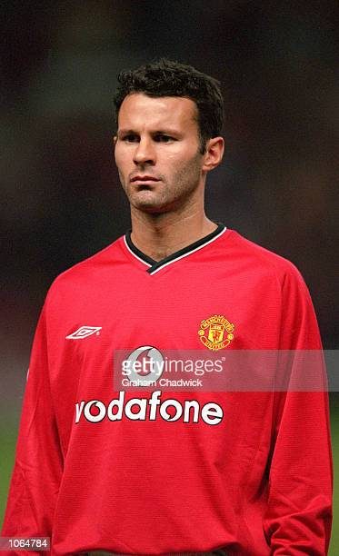 Portrait of Ryan Giggs of Manchester United before the UEFA Champions League match against Anderlecht at Old Trafford in Manchester England...