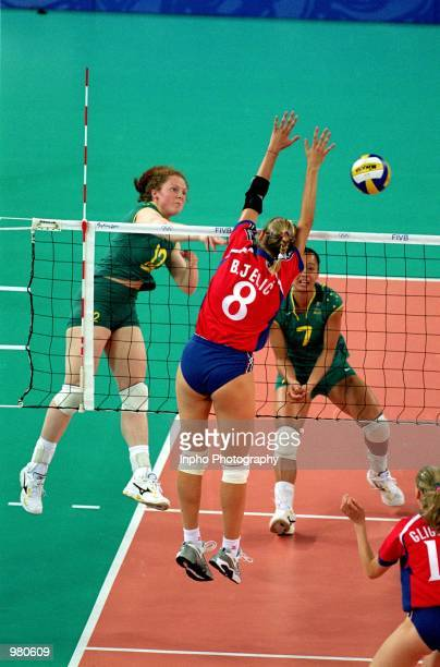 Priscilla Ruddle of Australia in action during the Women's Indoor Volleyball match played between Australia and Croatia held at the Sydney...