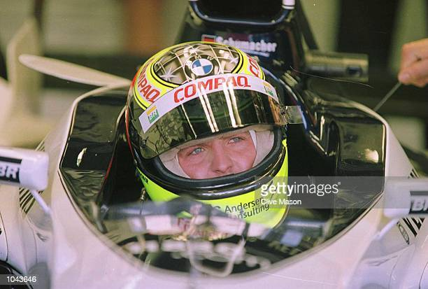 Ralf Schumacher of Germany and BMW Williams during the third free practice session for the Italian Grand Prix in Monza Italy Mandatory Credit Clive...