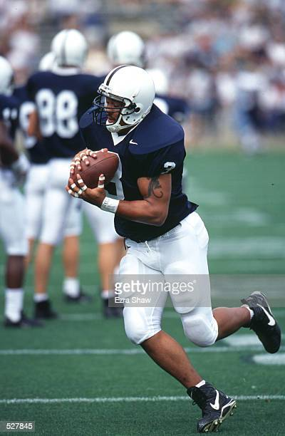 Ron Graham of Penn State runs through a drill during warmups before taking on Toledo at Beaver Staduim in State College Pennsylvania Mandatory Credit...