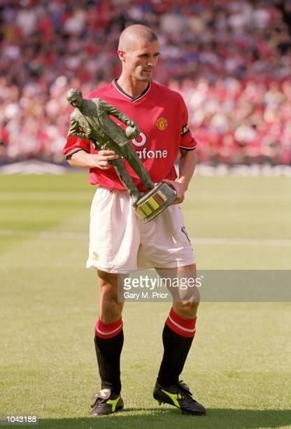 Roy Keane of Manchester United during a presentation before the FA Carling Premiership match against Newcastle United at Old Trafford in Manchester...