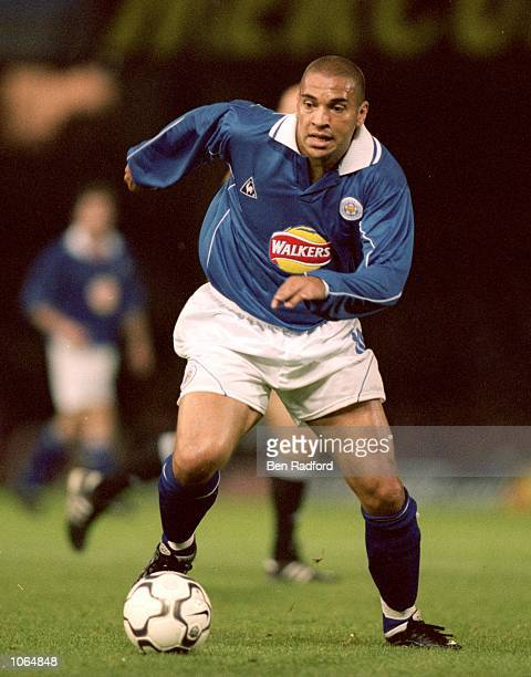 Stan Collymore of Leicester City in action during the UEFA Cup first round first leg match against Red Star Belgrade at Filbert Street in Leicester...