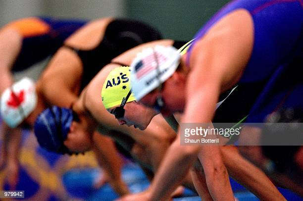 Susie O''neill of Australia in action during the Women's 200m Freestyle Heats held at the Sydney International Aquatic Centre during the Sydney 2000...