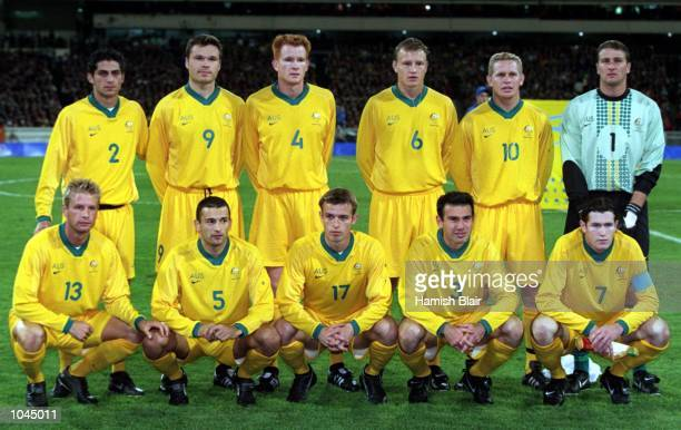 The Australian Olyroos team before the Olympic Mens Preliminary match between the Australian Olyroos and Italy played at the Melbourne Cricket Ground...