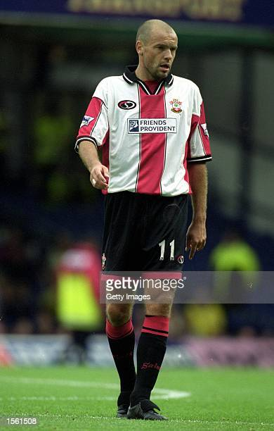 Uwe Rosler of Southampton in action during the FA Carling Premiership match against Leicester City at Filbert Street in Leicester England Leicester...