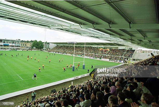A general view of the new stands during the Zurich Premiership game between Northampton Saints and Bath at Franklin's Gardens Northampton Mandatory...